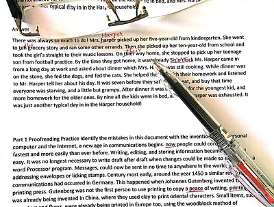 Proofread and edit up to 1000 words of your document