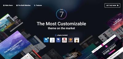 Create amazing website using The 7 Premium theme (Basic Package)