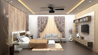 Interior rendering with highest quality/3d photo realistic