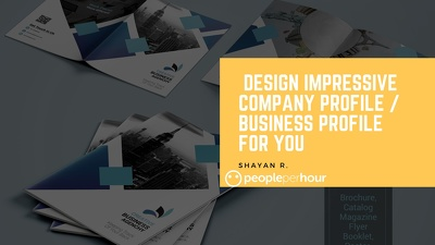 Design impressive company profile / business profile for you