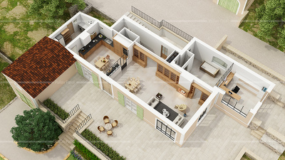 Do 3D floorplan from 2d CAD plans or Drawings