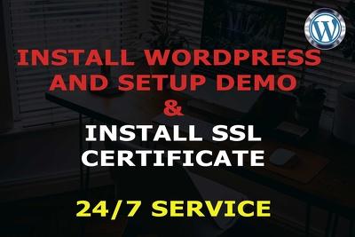 Install wordpress, install SSL and configure wordpress fix error