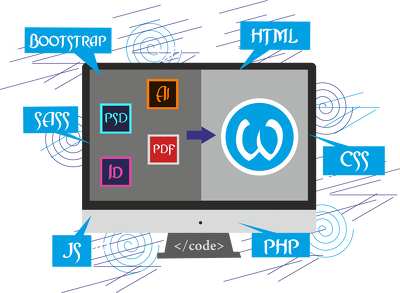 Convert designs in different formats to a wordpress site