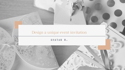 Design a unique event invitation