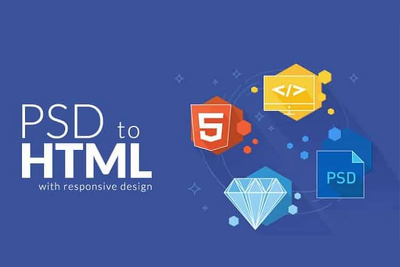 Convert your single page Psd to Html.