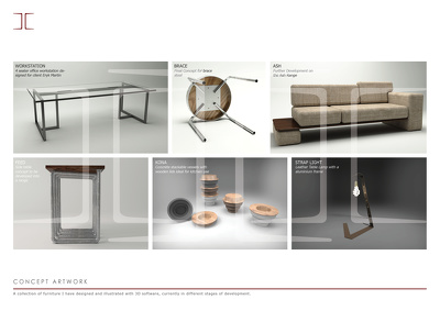 Render products & furniture