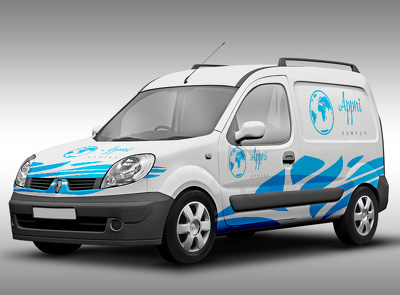 Put your logo on car or van for vehicle branding mockup