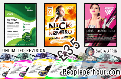 Design your flyer or poster Professionally