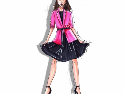Create a fashion illustration of your design