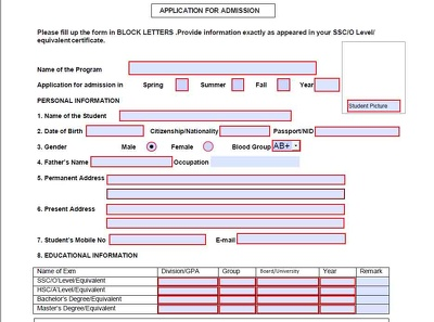 Create Fillable PDF form ( 2 page)