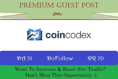 Crypto Guest Post on Coincodex.com - DA 51, DR 70