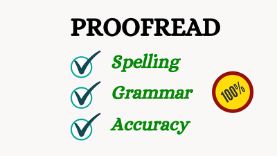 Provide a high quality proofread of your work (8,000 words)