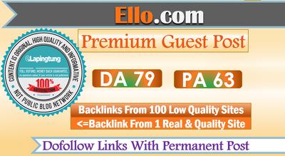 """Write & Publish Guest Post on """"Ello"""" DA-79 Dofollow"""