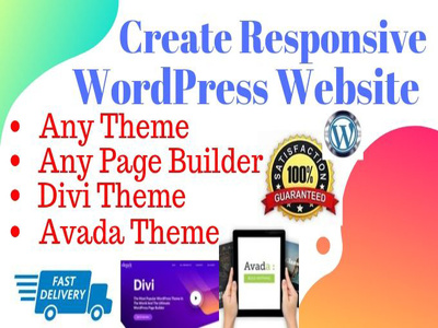 Design and customize any website with any wordpress theme
