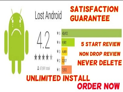 Provide you android app or game review on five star rating