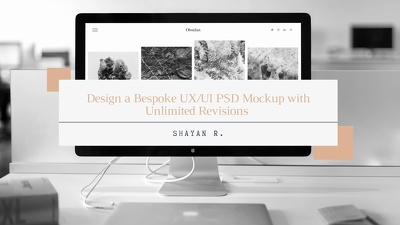 Design a Bespoke UX/UI PSD with Unlimited Revisions