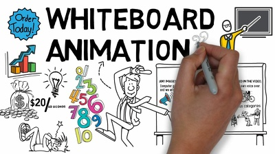 Create 60 seconds whiteboard explainer video in 48 hours