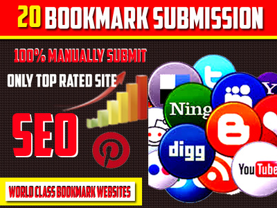 Google SEO Bookmark Submission Manually High PR Backlinks