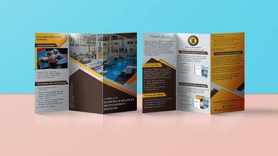 Design tri-fold brochure with unlimited revisions
