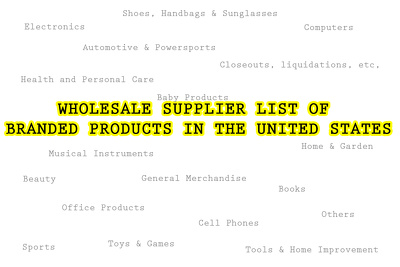 Wholesale supplier list of branded products in the US.