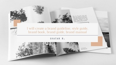 I will create a brand guideline, style guide, brand book, brand