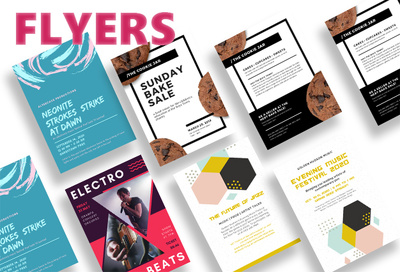 Design a professional eye catching flyer. Unlimited revisions!