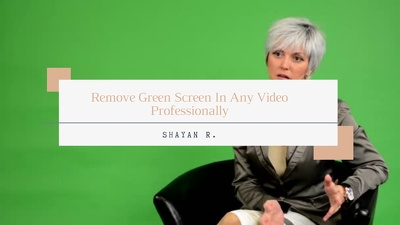 Remove Green Screen In Any Video Professionally