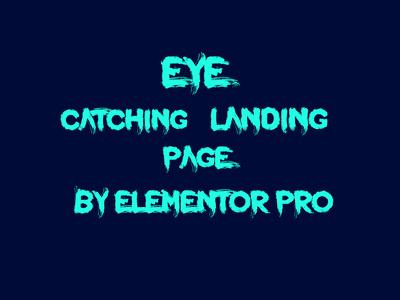Design wordpress landing page using elementor pro