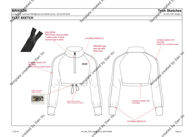Create fashion technical package (known as Tech pack)