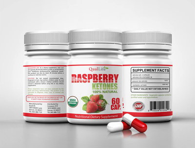 Professional supplement product label design