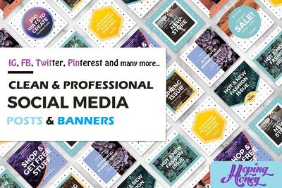 Make 10 stunning facebook instagram posts banners