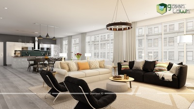 Provide you 3D Interior Renders