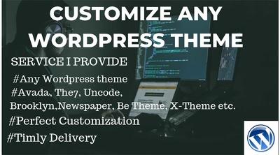 Customize any WordPress theme, configure, fix wp bugs & errors