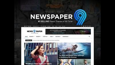 Create a wordpress website, newspaper, blog with newspaper theme