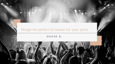 Design the perfect invitation for your party