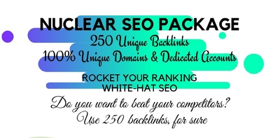 Boost your ranking to page 1 on Google w/ nuclear SEO pack