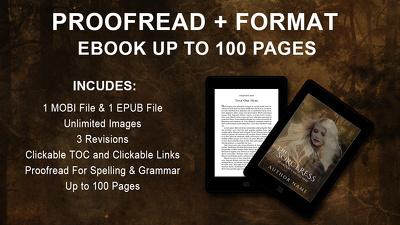 Proofread and Format Ebook Up to 100 Pages