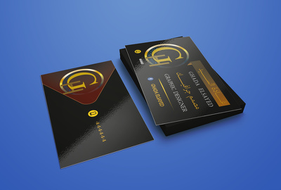 Design creative businesscard with 2 slided