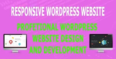 Create wordpress website or design wordpress website