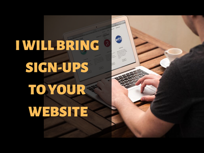 Recruit & bring signups to your website