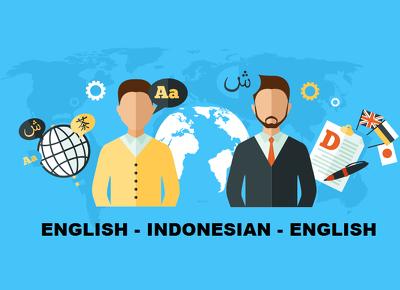 Translate indonesian to english vice versa