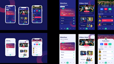 Design mobile app screens / UI&UX for mobile apps