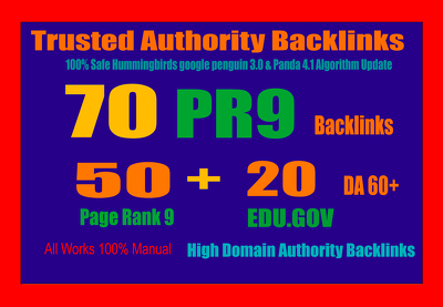 PROVIDE TRUSTED AUTHORITY BACKLINKS