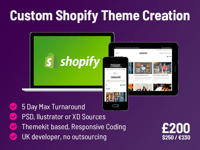 Create a custom shopify theme from your design
