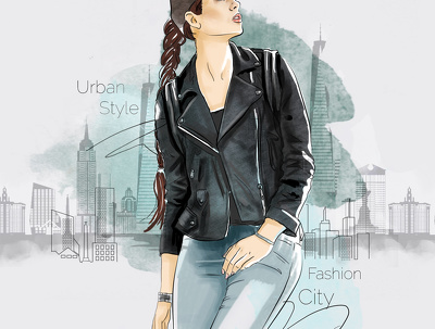 Create a fashion illustration