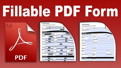 Design fillable pdf form with in 4 hours