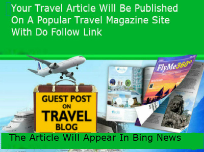 Publish your travel article on a popular travel blog