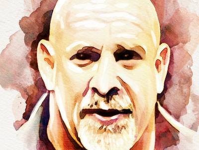 Do watercolor portrait in digitally