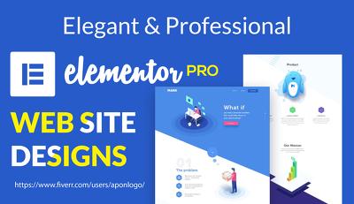 design dynamic elementor website