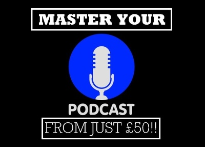 Post engineer your podcast to industry standard ready to upload.